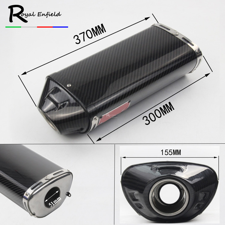 Motorcycle exhaust muffler link pipe for Honda CBR600rr f5 03-04 05-15 cbr1000 04-07 with Carbon muffler for yoshimura sticker