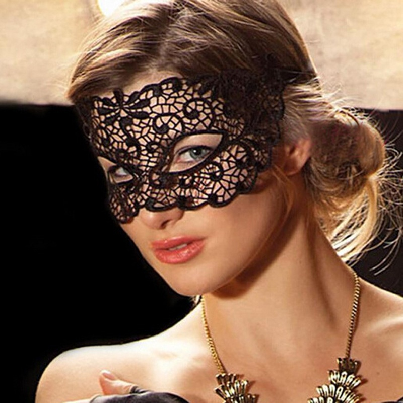 Fashion Womens Cosplay Sexy Eye Veil Lace Eye Mask for