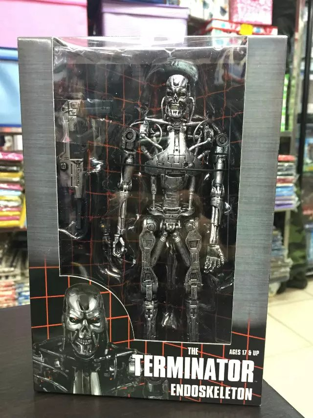 The Terminator Endoskeleton PVC Action Figure Collectible Model Toy 7 18cm KT1790 neca the terminator 2 action figure t 800 endoskeleton classic figure toy 718cm 7styles