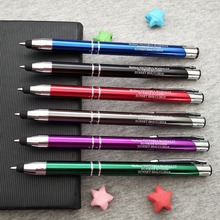 Top stylus pen 10colors for your choose custom free with any party name and wish text company event favors 100pcs/lot