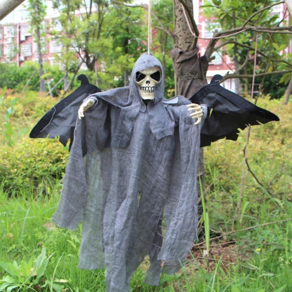 Creepy Halloween Props Hanging Skull Skeleton Ghost Devil Pendant ...