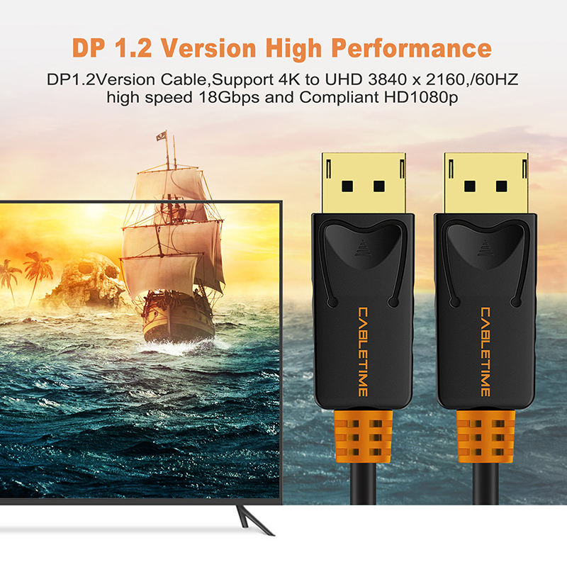 Image 3 - CABLETIME 2019 DisplayPort Cable 1M Male to DP 1.2 Cable DP Vedio Audio 4k 60hz Display port Cable 2M for HDTV Projector PC C071