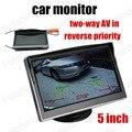 Digital TFT LCD Full HD 5 pulgadas de Coches Monitor de Copia de seguridad cámara de Visión trasera es compatible con dos modos de entrada de vídeo inverso prioridad