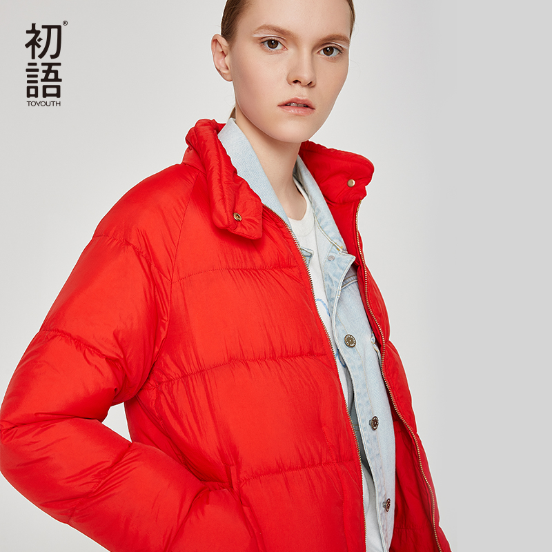 Toyouth Down Duck Women Winter Coat Short Thickening Coats Puffer Female Jacket Warm Outerwear Mujer Hiver