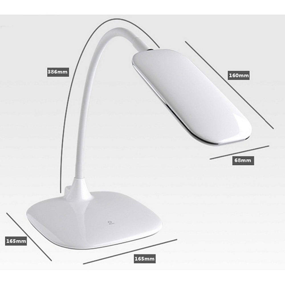 LED Eye Protection Chargeable Table Lamp 3 Dimming Levels For Study Work Read with free shipping