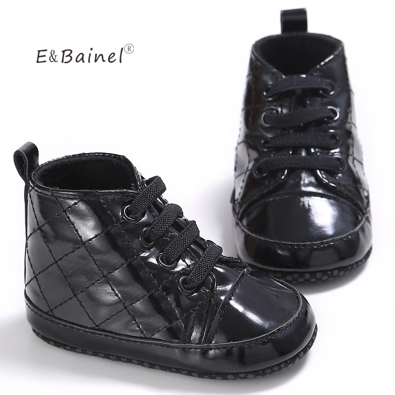 E&Bainel PU Newborn Baby First Walkers Shoe Infant Child Toddler Boots Boy Girl Booties Shoes