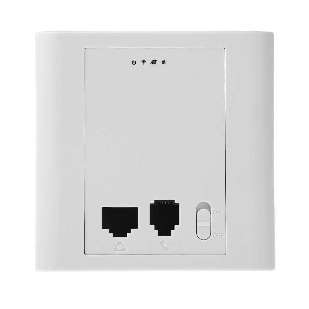 Hot Sale 300Mbps 2.4GHz In wall Wireless AP Router for Hotel Room Support 48V PoE VLAN new 150mbps in wall wifi access point wireless socket ap for hotel wi fi project support ac management