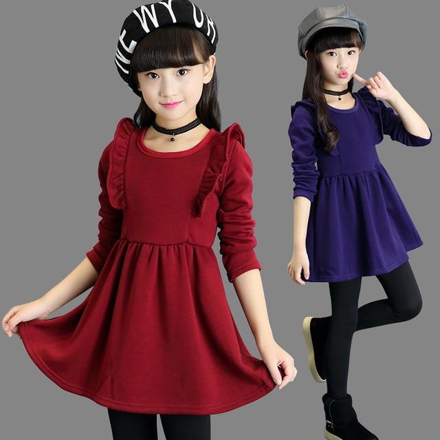 a85eaf57f256a Christmas Dresses for Girls 2018 Autumn Winter Girls Dress Long Sleeve Girls  Dresses Winter Vestido Infantil Dress Girl Clothes