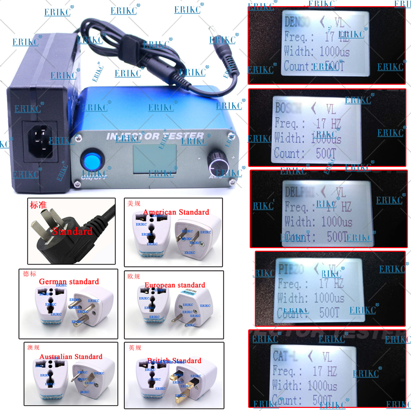 ERIKC CRI100 Fuel injector tester , common rail electromagnetic and piezoelectric injector test kits