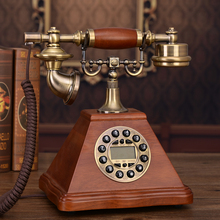 The new European antique  retro wood household fixed telephone