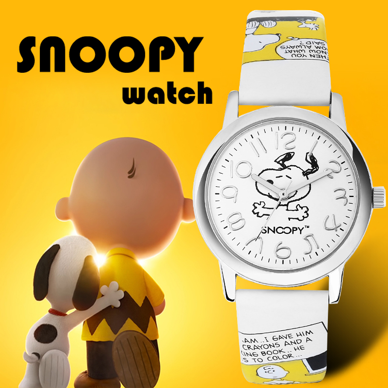 Snoopy Watch Clock Women Quartz Classic Waterproof Fashion Casual Brand Kid Genuine title=