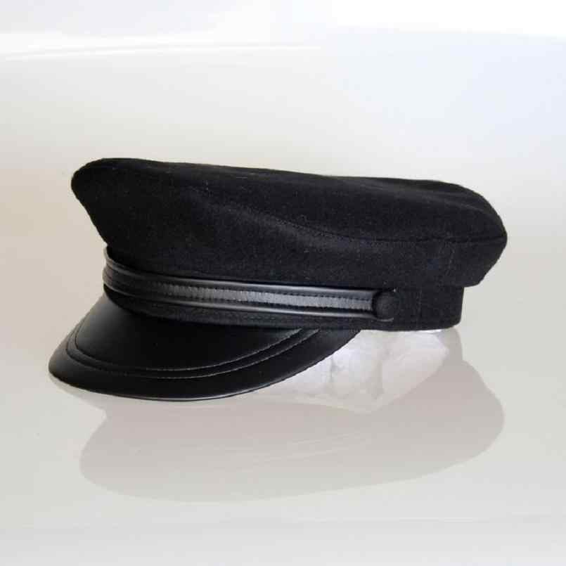 b47d1728debb0 Américain style de laine marine casquette militaire laine étudiant chapeau  55 57 59 61 cm sailor