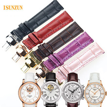 ISUNZUN Women 16mm Watchband For Tissot T050 Watch Band Female Watch Band For T055/T099/T063 Genuine Leather Watch Strap 16mm цена и фото