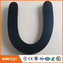 Ze stali nierdzewnej nie oświetlenie reklama 3D litery tanie tanio shsuosai stainless steel letter sign 0007