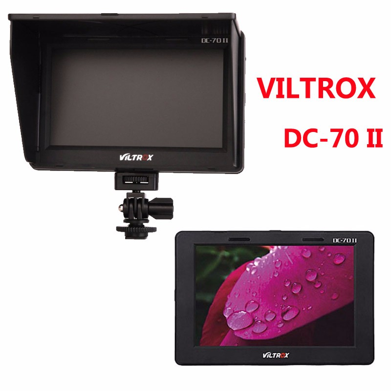 Viltrox 7 DC-70 II Clip-on Color TFT HD LCD Monitor Display HDMI AV Input 1024 x 600 for Sony Canon Nikon DSLR Camera