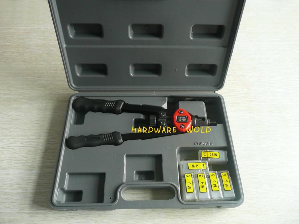 13 Hand Riveter Rivet Gun, Riveting Tools With Nut Setting System M3-M10 BT605 1pcs ergonomic hand squeeze pop rivet gun tool riveter poprivet