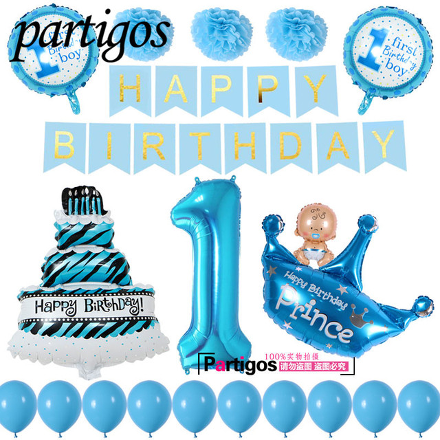 1set Happy Birthday Banner  40\u0027\u0027 Number Foil Ballon Baby Shower Boy