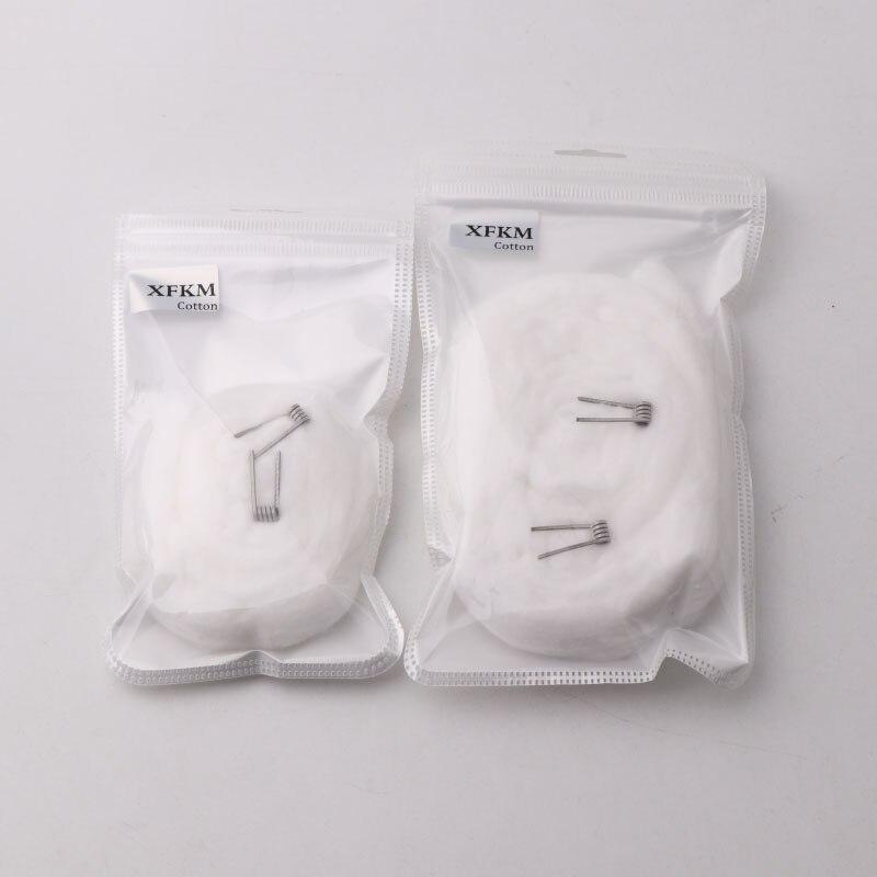 XFKM 5g/10g Native Cotton Strip Shape Fit DIY Coil Tool Japanese Cotton Vape For Electronic Cigarette Accessories Vs Bacon