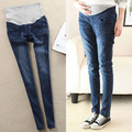 La moda de maternidad elástico del vientre pantalones vaqueros para mujeres embarazadas embarazo delgado lápiz Jeans pantalones más el tamaño de maternidad ropa