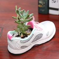 Creative Shoe shape Flowerpot Succulent Planter Cute White / Green Plants Flower Pot with Hole