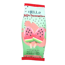 1Pc Cute Watermelon Pencil Case For Girls Snacks Popcorn Pencil Bag Fruit Pen Stationery Pouch Gift School Supplies watermelon pattern jelly pencil case