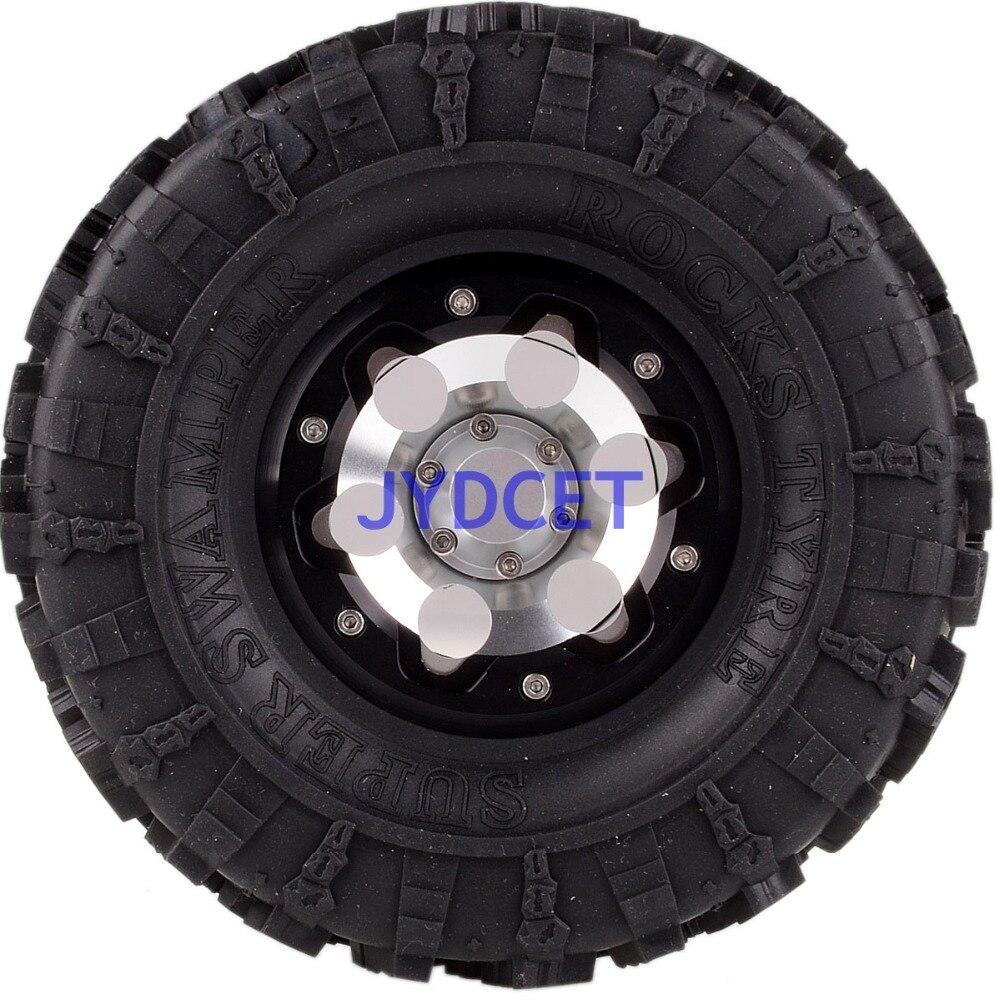 2023 3022 aluminio 2,2 Beadlock Rueda y 132mm neumáticos para RC 1/10 modelo Crawler Axial Traxxas - 4