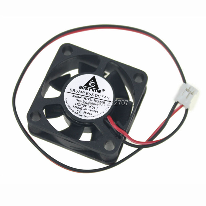 20pcs lot 3010s DC 12V 30mm x 30mm X 10mm Brushless Cooling Fan Blower
