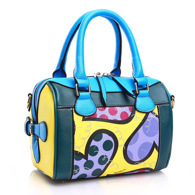 ROMERO BRITTO  Hot Sale New Fashion Digital Print Handbags Graffiti Casual Lady