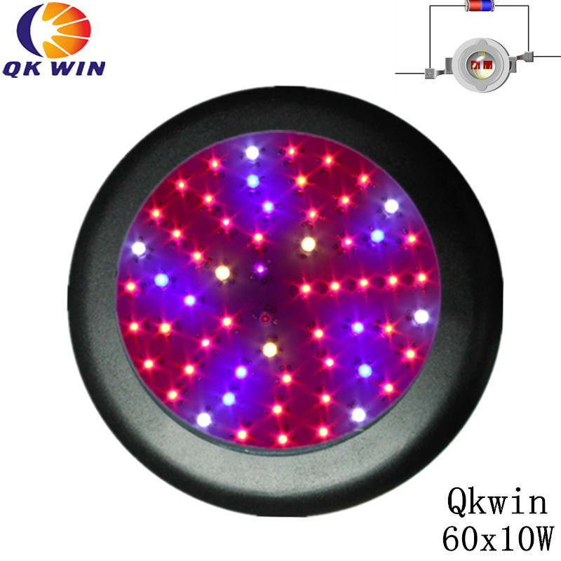 Qkwin UFO 600W LED Grow Light ufo 60x10w Full Spectrum LED Grow Lights For Indoor Plants Flowering And Growing цена