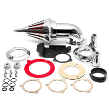 купить For 08-12 Harley Davidson Dyna Touring Spike Cone Air Cleaner Intake Filter Kit Motorcycle Accessories Parts 2008 2009 2010-2012 дешево