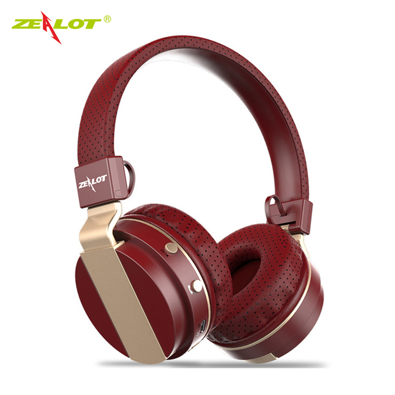 ZEALOT B17 Bluetooth Headphones Noise Cancelling PC Headsets Foldable Stereo Deep Bass Earphones With Mic FM Radio TF Card Slot zealot b570 headset lcd foldable on ear wireless stereo bluetooth v4 0 headphones with fm radio tf card mp3 for smart phone