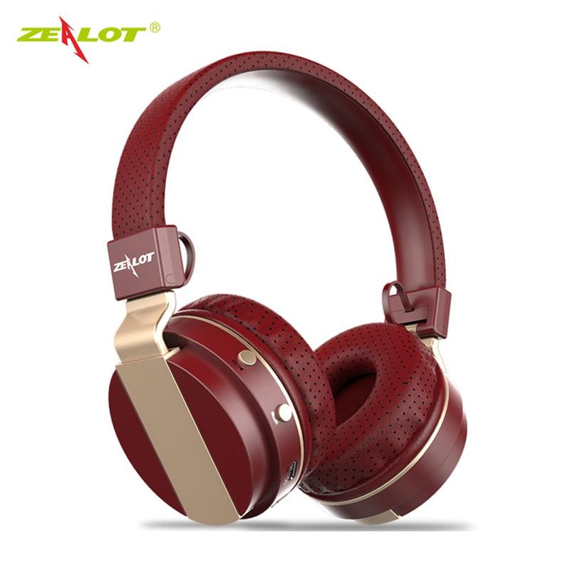 ZEALOTBluetooth B17 Sluchátka s potlačením hluku PC Headsety Skládací stereofonní hluboké basové sluchátka s mikrofonem FM rádio TF slot