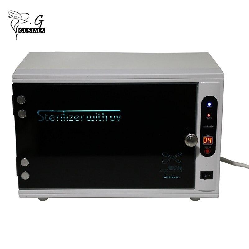 Gustala 220 v profissional esterilizador ferramentas de unhas uv prego desinfecção gabinete manicure ferramentas prego elétrica equipamentos terapia