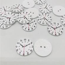 XinDong 5 шт. деревянные часы шаблон кнопки подходят для шитья или скрапбукинга ремесла 25 мм DIY