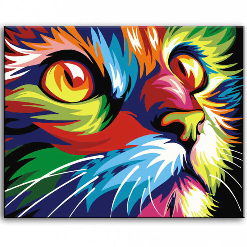 Oil Painting hand painted Oil Painting cat on Canvas ...