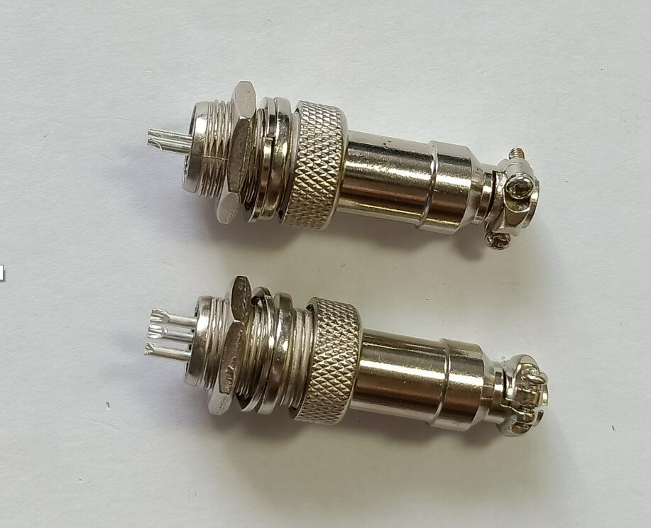 10set/1lot <font><b>GX16</b></font> 2P 3P 4P 5P 6P 7P <font><b>8PIN</b></font> aviation plug and socket Docking cable connector set: female + male mounting hole:16mm image