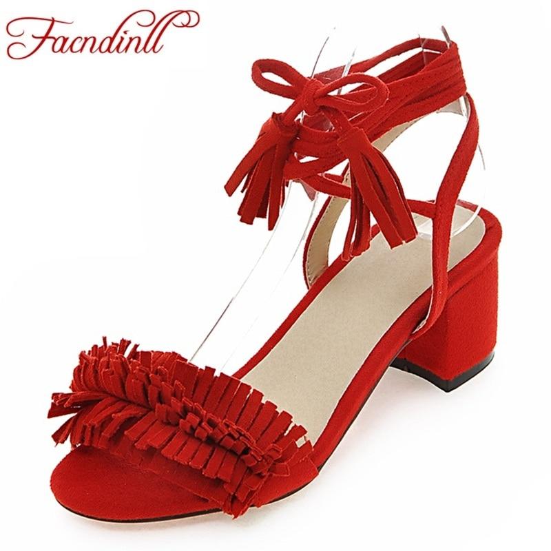 Brand shoes woman flock gladiator sandals women summer dress shoes lace-up high heels fringe beach casual shoes ladies sandals fringe detail beach sandals