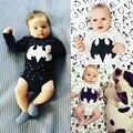 0-18 М Девочка Новорожденного Мальчика С Длинным Рукавом Бэтмен Печати Хлопок Боди Комбинезон Одежда