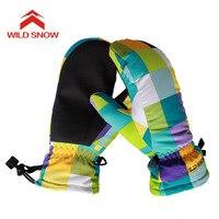 2017 Niños Guantes De Esquí Snowboard Guantes de Invierno Mujeres Nieve Al Aire Libre Deporte Mitones Niños Niñas Calientes Impermeables Guantes De Esquí 618