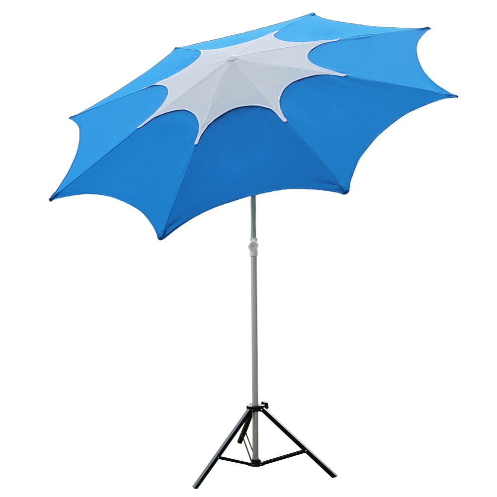 Abba Patio 7-1/2-Feet Fiberglass Rib Beach Patio Aluminum Umbrella with 2 Sand Anchors and Push Button Tilt Pacific Blue abba patio 7 1 2 feet fiberglass rib beach patio aluminum umbrella with 2 sand anchors and push button tilt pacific blue