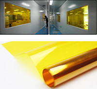 2 Mil Gold Yellow Decoration Solar Tint Window Film Improve Privacy UV 99% Heat Proof High Quality Glass Tint Film Deco