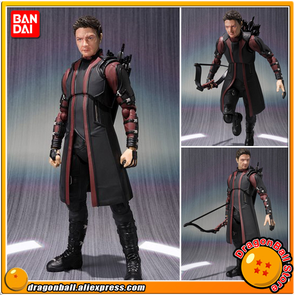 Avengers 2 Age of Ultron Original BANDAI Tamashii Nations S.H.Figuarts / SHF Exclusive Action Figure - HAWKEYE original full set action figure mms357 avengers age of ultron 1 6th scarlet witch wanda django maximoff figure doll model