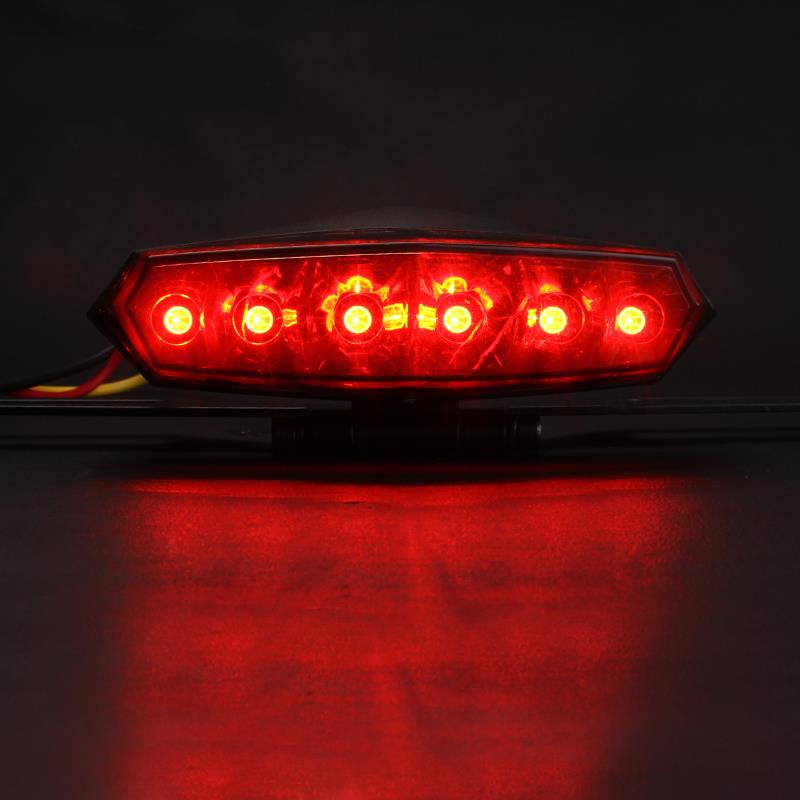 HiPanda New Sale LED Motorcycle Tail Brake Rear License Plate Integrated Lights taillight Motorbike 3W #HP