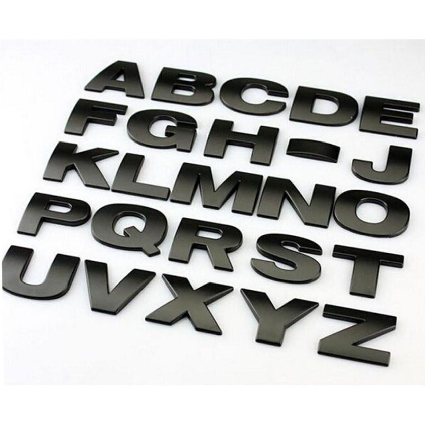 26PC 25mm Top Quality Chrome Metal Zinc DIY ABC Letters Numbers Car Styling Refitting Emblem Sticker Alphabet @tw auto chrome camaro letters for 1968 1969 camaro emblem badge sticker