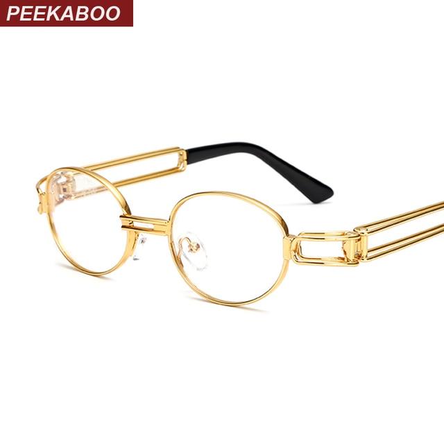 New Clear Fashion Round Frames Eyeglasses For Women Small Vintage Steampunk Metal Glasses Frames For Men Nerd Glasses 0UjkkZwtPB