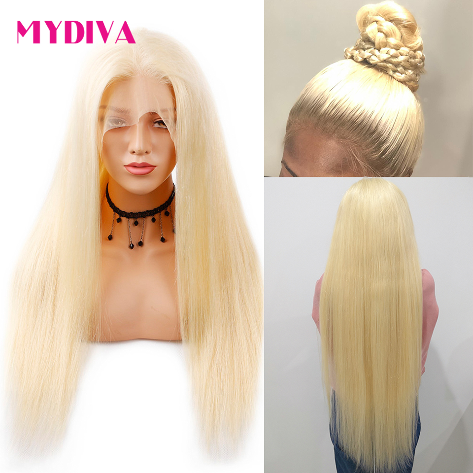 613 Honey Blonde Lace Front Wig Pre Plucked With Baby Hair Transparent 613 Glueless Lace Front Wig For Black Women Remy Hair