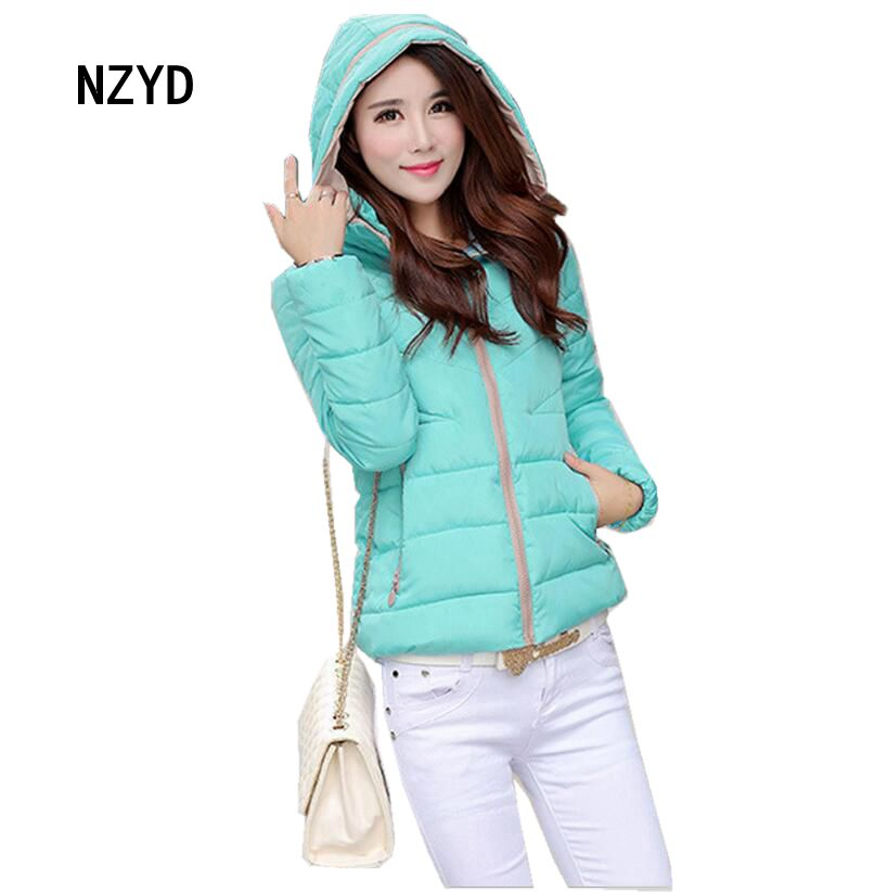 2017 Winter Women Down jacket Latest Fashion Hooded Thick Super warm Short Coat Loose Big yards Cotton-padded clothes SJ1174 women winter parkas 2017 new fashion hooded thick super warm short down cotton coat long sleeve loose big yards jacket ladies244