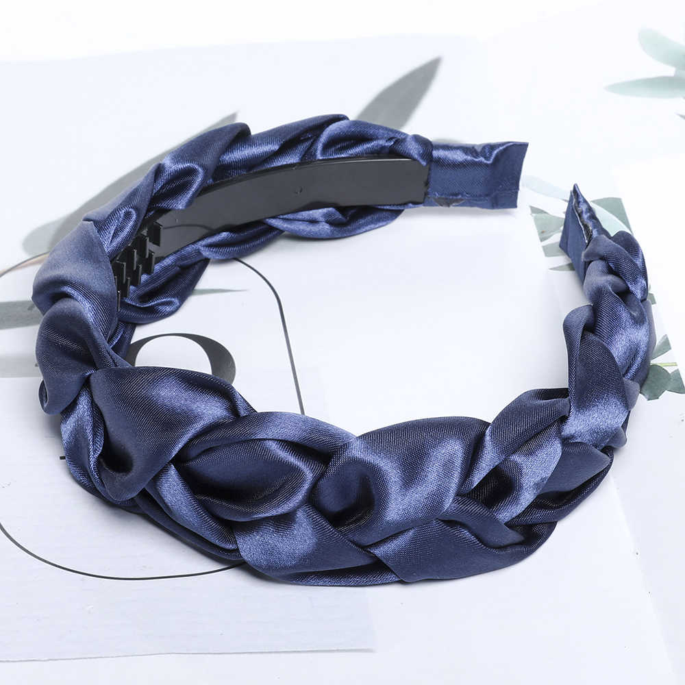 Coreano Braid Hairband Delle Donne Tessuto Annodato Fascia Vintage Twist Turbante Dei Capelli di Accessori Fisso Fascia Dei Capelli Largo Boho Copricapi