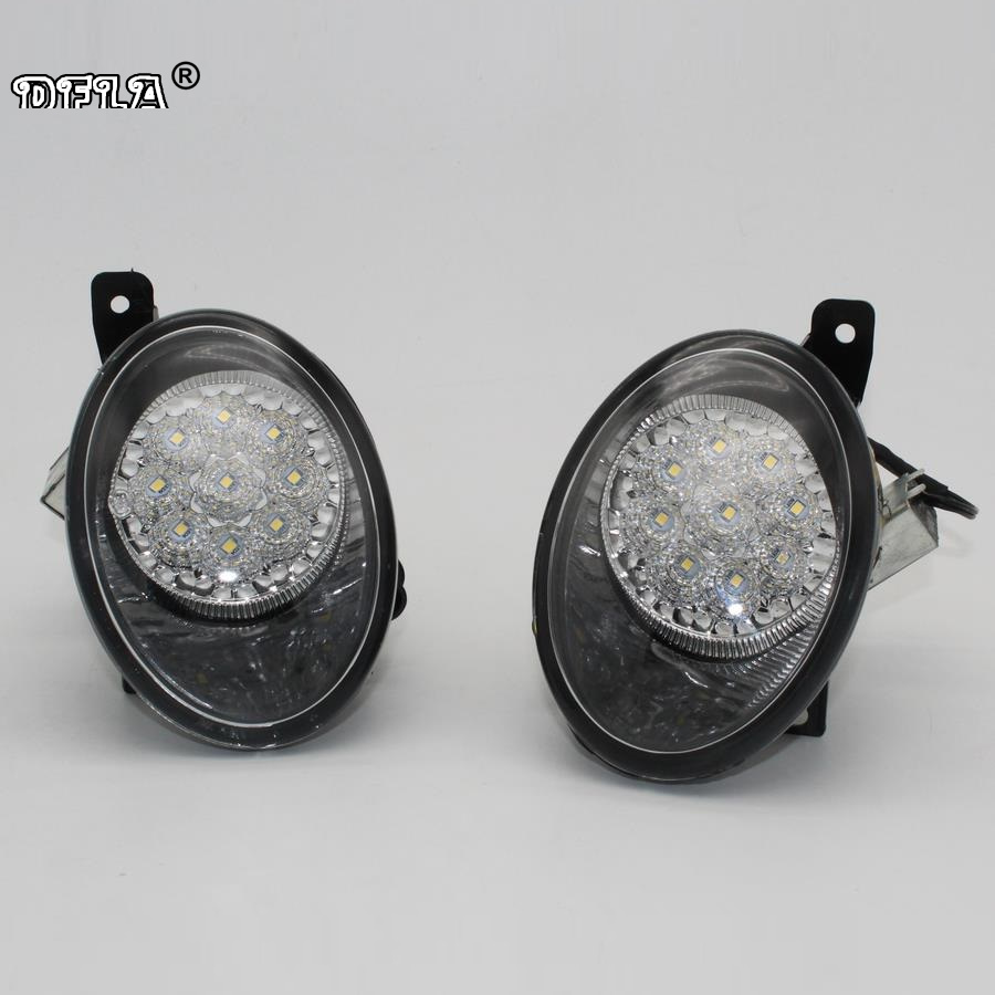 Car LED Light For VW Transporter Multivan T5 T6 2010 2011 2012 2013 2014 2015 Car-Styling LED Fog Light Fog Lamp Without Error free shipping new pair halogen front fog lamp fog light for vw t5 polo crafter transporter campmob 7h0941699b 7h0941700b