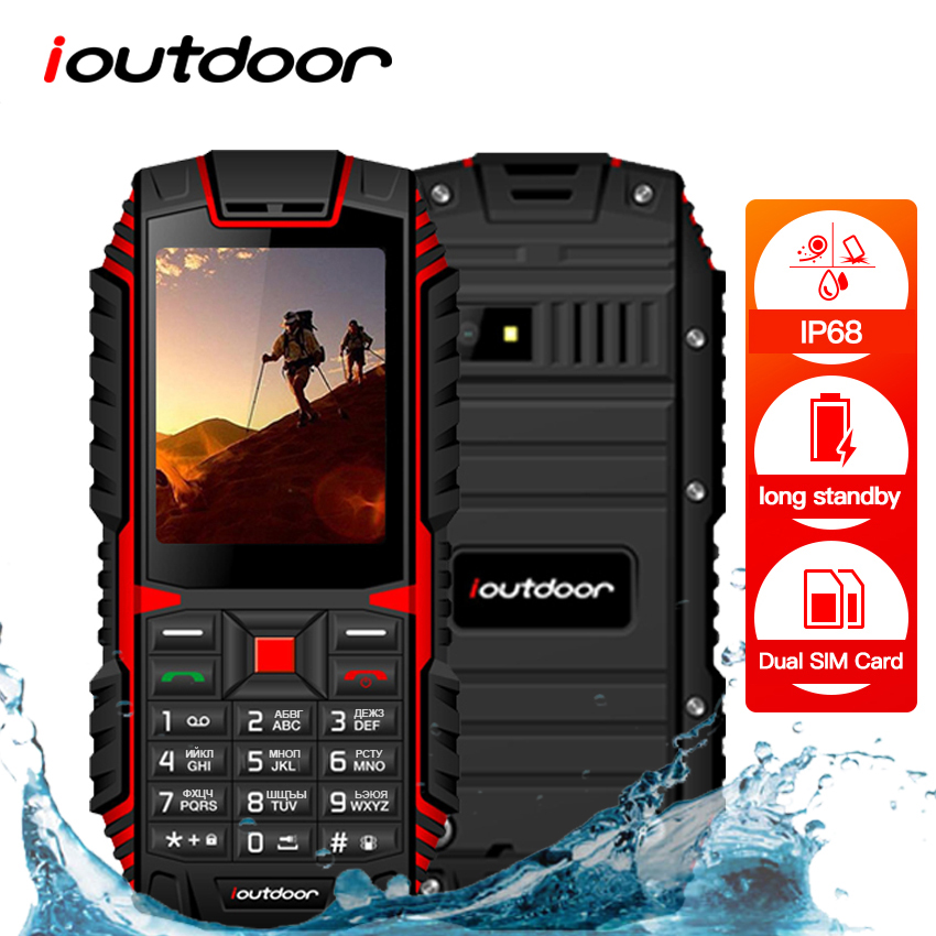 XGODY Ioutdoor T1 2G Feature Phone IP68 Shockproof 2.4''128M+32M GSM 2MP Back Camera FM Cep Telefonu Telefon Celular 2G 2100mAh